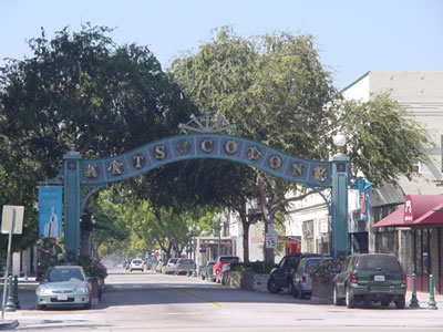 Photo: The entrance to the Pomona Arts Colony in California.