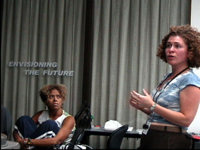 Photo: Gayle Fekete (left) and Audrey Mandelbaum (right) were selected, along with seven others, as facilitators in The Envisioning the Future project.