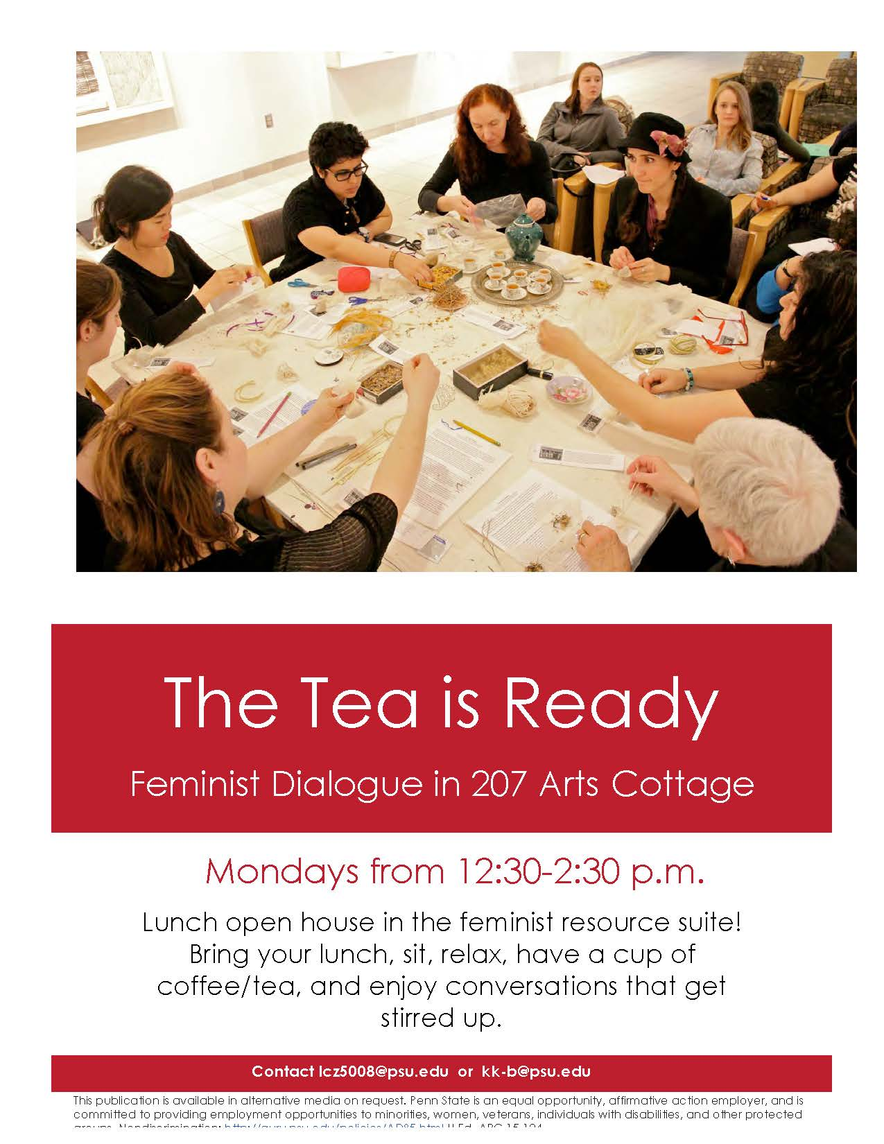 The Tea is Ready Flyer Spring 2015