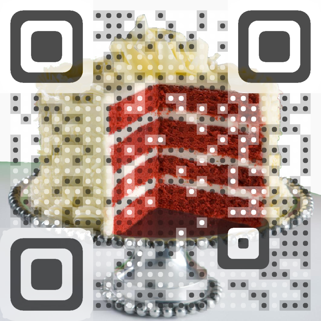 Out of Here cake QR code